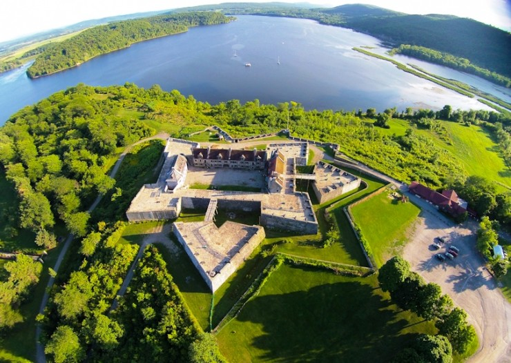 Aerial view of Fort Ticonderoga. (Credit: Fort Ticonderoga)