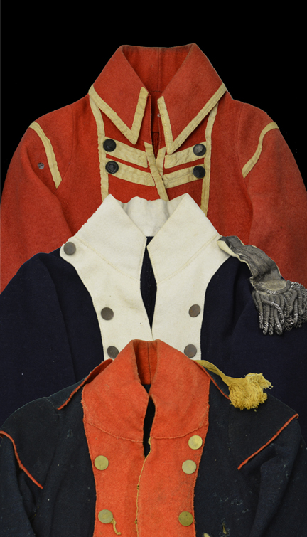 Image of 18th-century military apparel (Credit: Fort Ticonderoga)