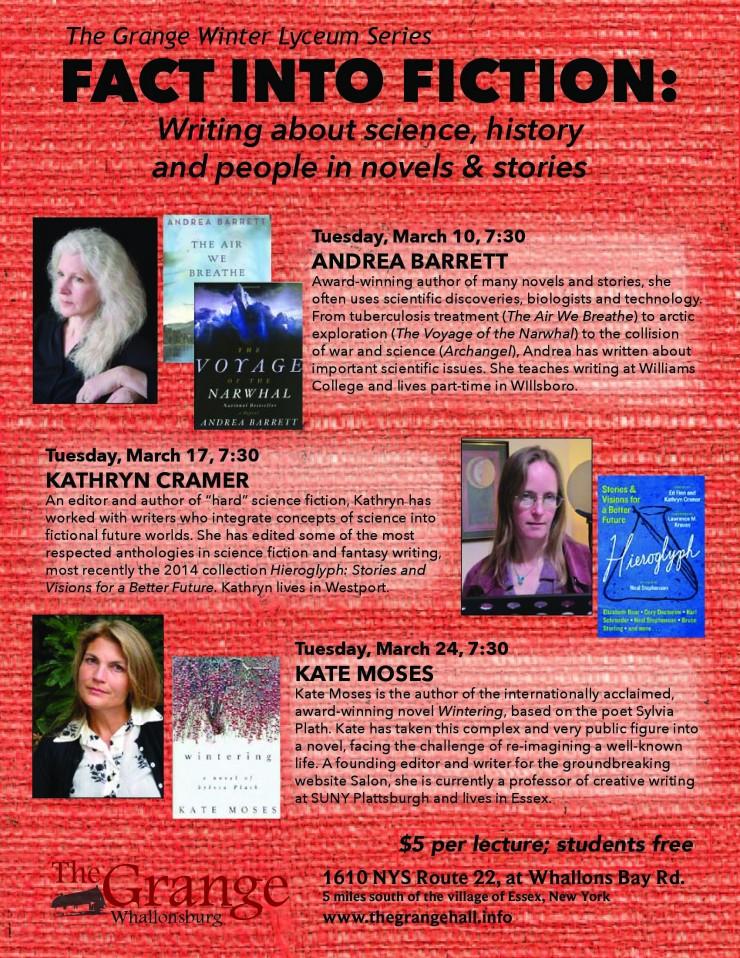 Grange Writers Lyceum Series 2015