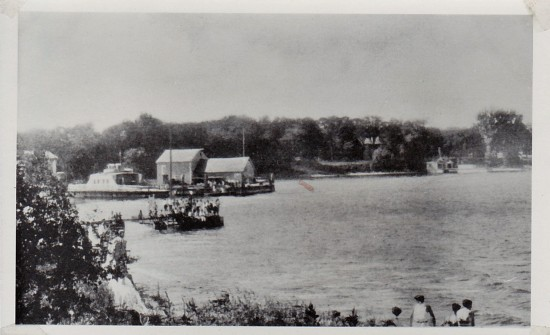 Essex Bay with Old Dock and ferry to the South (Credit: Unknown; Shared by Susie Drinkwine)