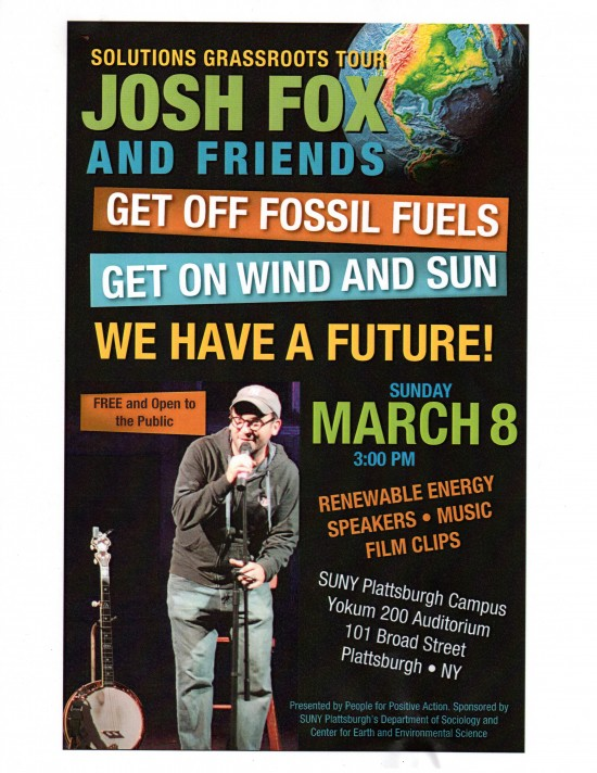 The Solutions Grassroots Tour with Josh Fox & Friends (flyer)