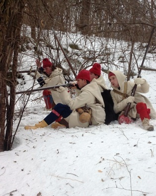 Historic Interpreters from Fort Ticonderoga recreate the Battle on Snowshoes Event, February 21. (Credit: Fort Ticonderoga.)