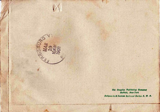 Back of Essex Souvenir Letter c. 1908