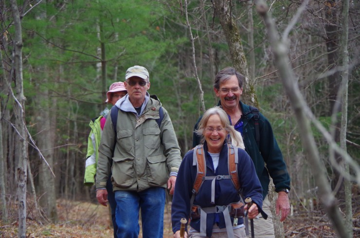 Smiling faces on the Grand Hike