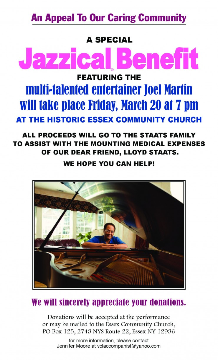 Jazzical Benefit Concert for Staats (flyer)