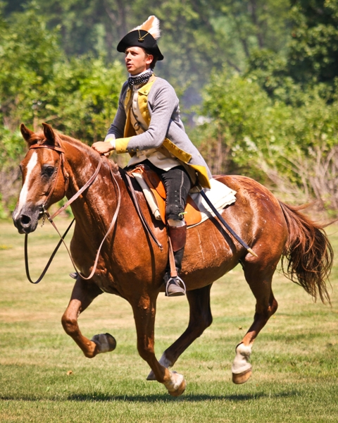 "Fort Ticonderoga's ""Fort Fever Series"" takes place on Sunday, March 15, at 2 pm with a presentation by Director of Exhibitions Stuart Lilie, titled ""Horsepower at Ticonderoga."" (Image of Stuart Lilie on his horse at the 2014 Heritage Harvest and Horse Festival. Credit: Fort Ticonderoga)"