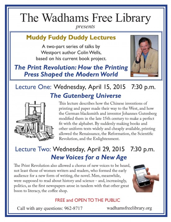 Muddy Fuddy Duddy Lecture Series