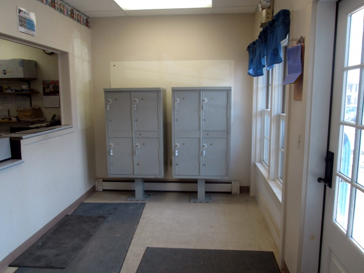 The Essex Post Office's new package mailboxes/lockers (Credit: Katie Shepard)