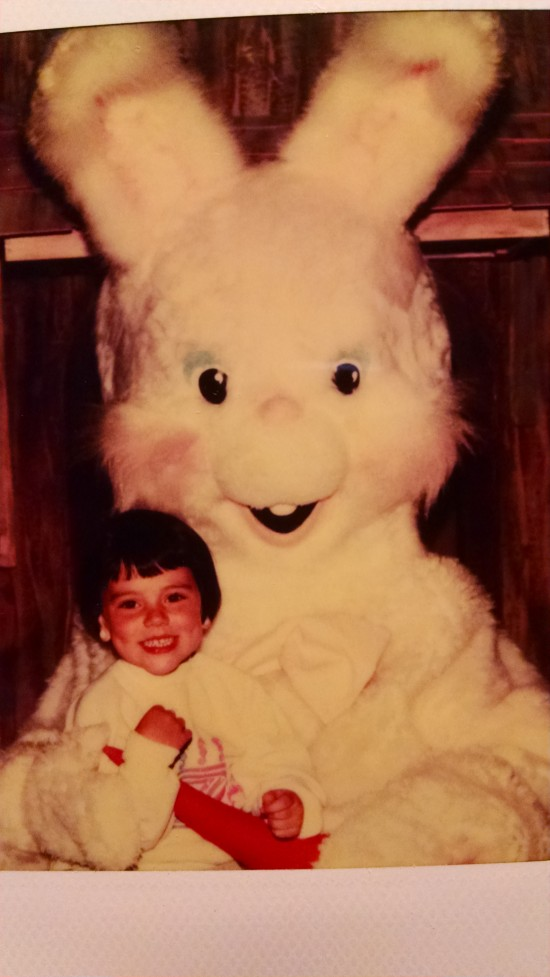 Lanai Monahan (age 4) with the Easter Bunny (Credit: Lanai Monahan)