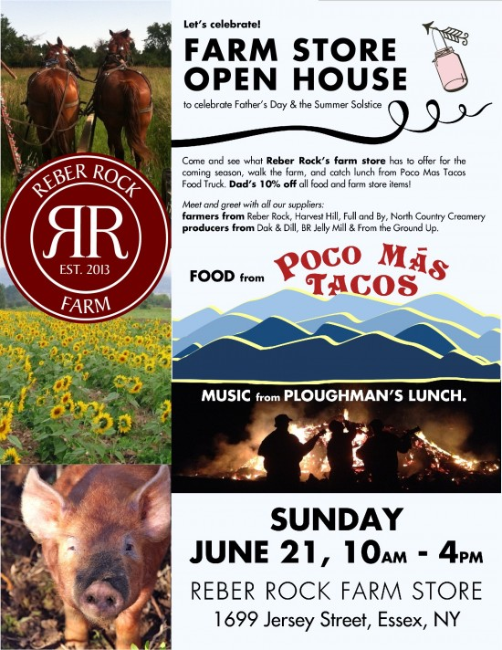 Reber Rock Farm Open House on Sunday, June 21, 2015. (Click to enlarge.)