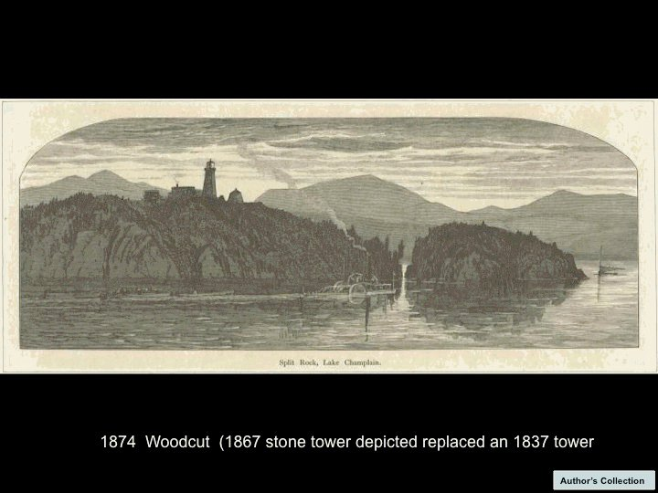 1874 Split Rock Woodcut Print (Shared by Todd Goff)