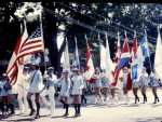 Essex Memorial Day Parade 1971: Marching With Flags (Credit: Harry and Judy Koenig)
