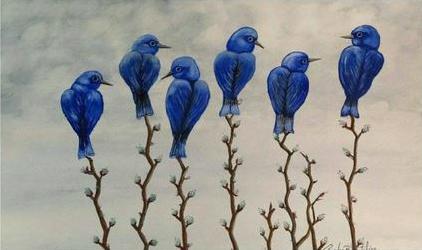 """Bluebirds"" by Randy Boutilier"