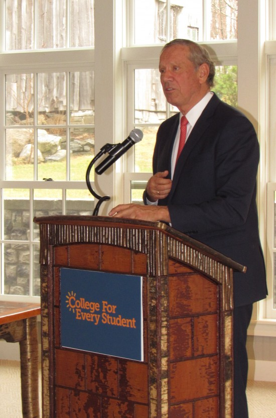 Pataki addresses attendees on filling jobs in the new economy (Credit: CFES)