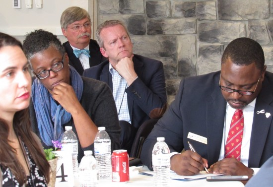 Attendees listen diligently at a recent two-day global summit at the CFES center in Essex, NY (Credit: CFES)