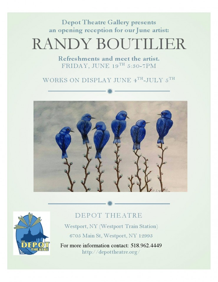 Depot Theatre Gallery Randy Boutilier Opening Poster