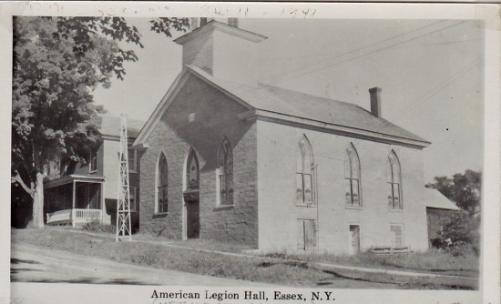 "Vintage Photo: ""American Legion Hall, Essex, NY"" (Credit: Unknown; Shared by Susie Drinkwine)"