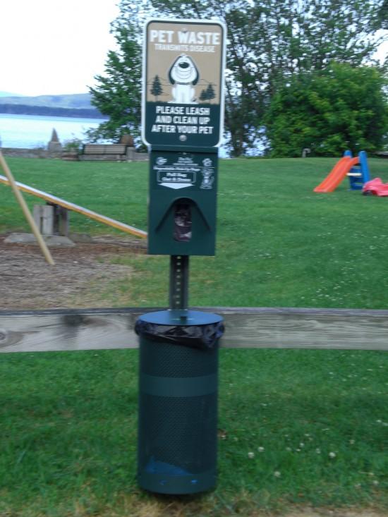 New dog waste receptacle at Begg's Park