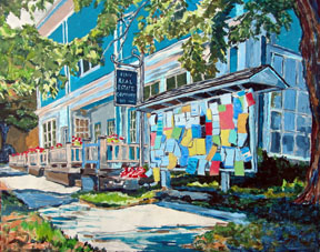Essex Post Office Painting by Bill Amadon