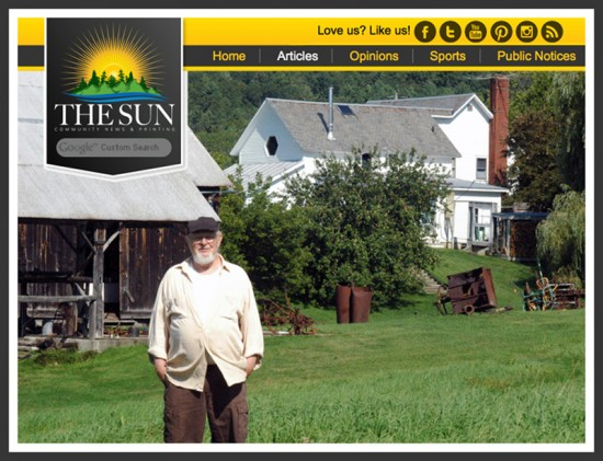 Ted Cornell's Art Farm featured in The Sun