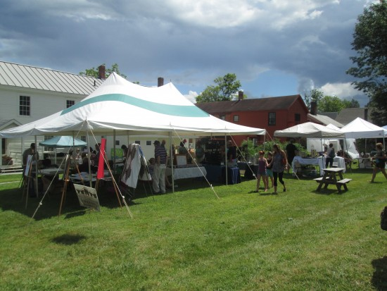 Essex Day 2015: Tents behind Town Hall (Credit: Katie Shepard)