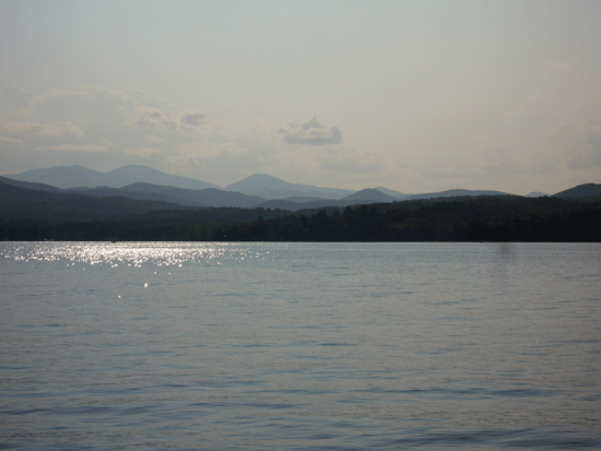 Lake Champlain View of Adirondacks, Summer 2015 (Source: Kathryn Reinhardt)