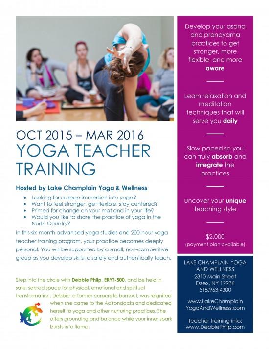 LCY&W Yoga Teacher Training Flyer