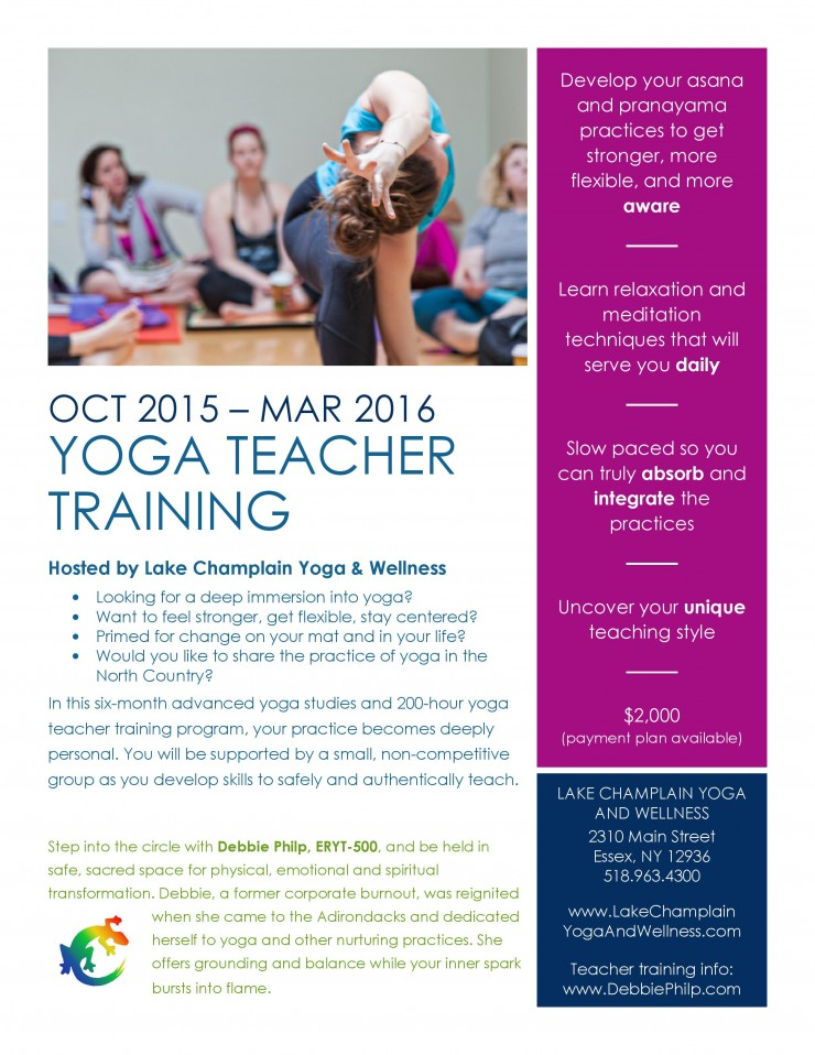 LCY&W Yoga Teacher Training Flyer