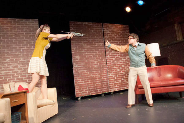 Juliane Godfrey as Linda and Matt Mundy as Albert in New York. Photo: Depot Theatre
