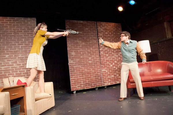 Juliane Godfrey as Linda and Matt Mundy as Albert in New York. Photo: Depot Theatre