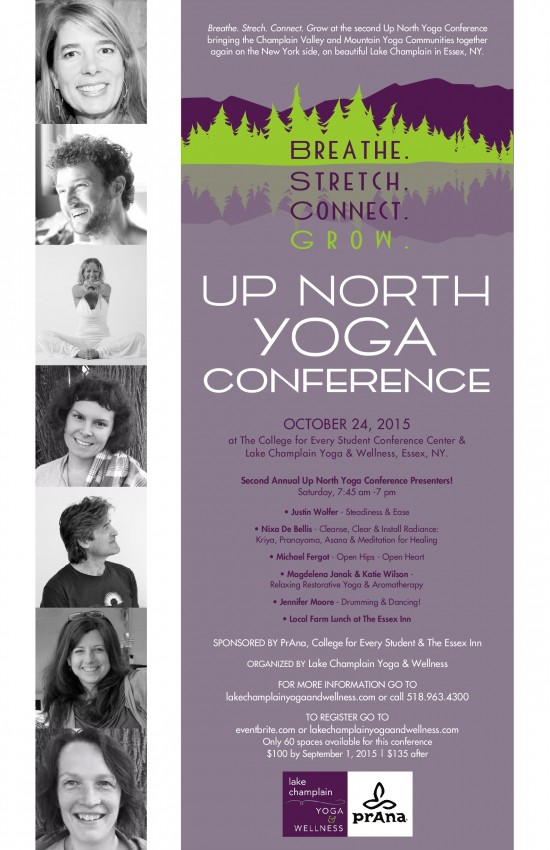 Up North Yoga Conference 2015 Flyer