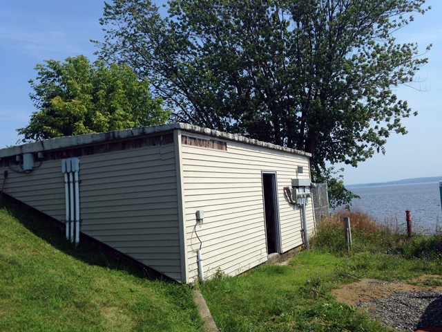 Pictured above is the current pump station on Begg's Point in Essex. (Credit: Pete DeMola)