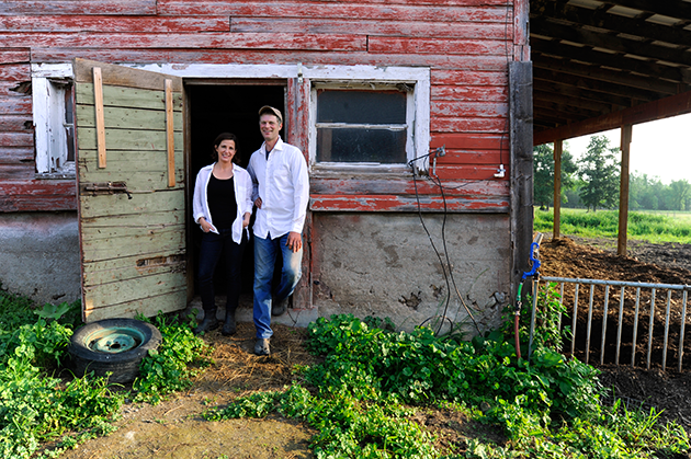 Mark & Kristin Kimball at Essex Farm, Essex, NY (Credit: Eating Well)