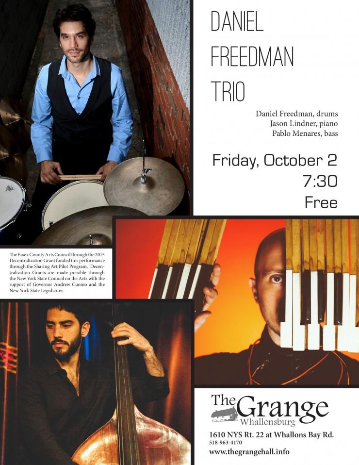 Freedman Trio Concert Flyer