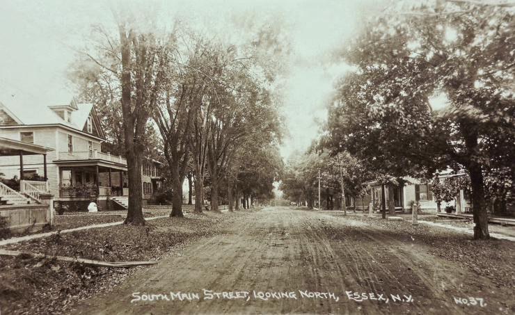 Vintage Photo: South Main Street, Looking North, Essex, NY