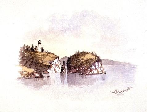 Painting, Split Rock, Henry Richard S. Bunnett, 1885-1889