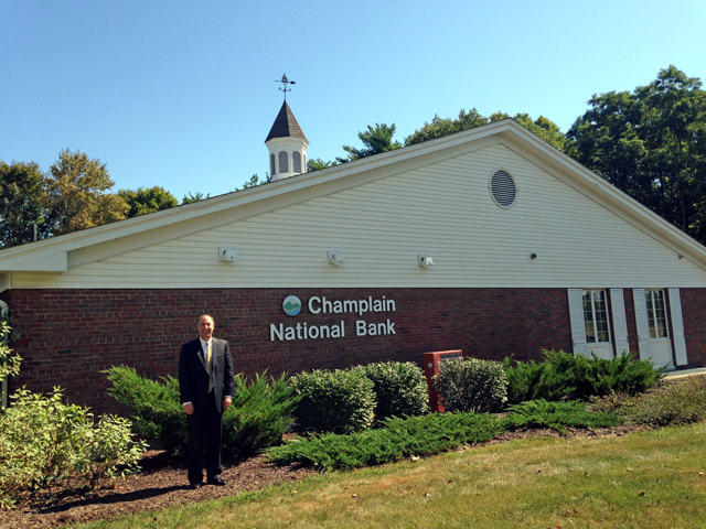 Steven Cacchio has been selected to lead Champlain National Bank after a nine-month search. (Photo by Pete DeMola)