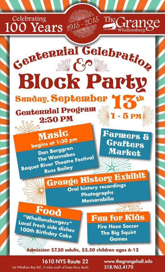 Grange Block Party Poster