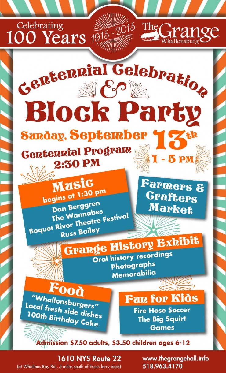 Grange Block Party Poster