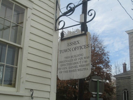 Essex Town Hall Sign