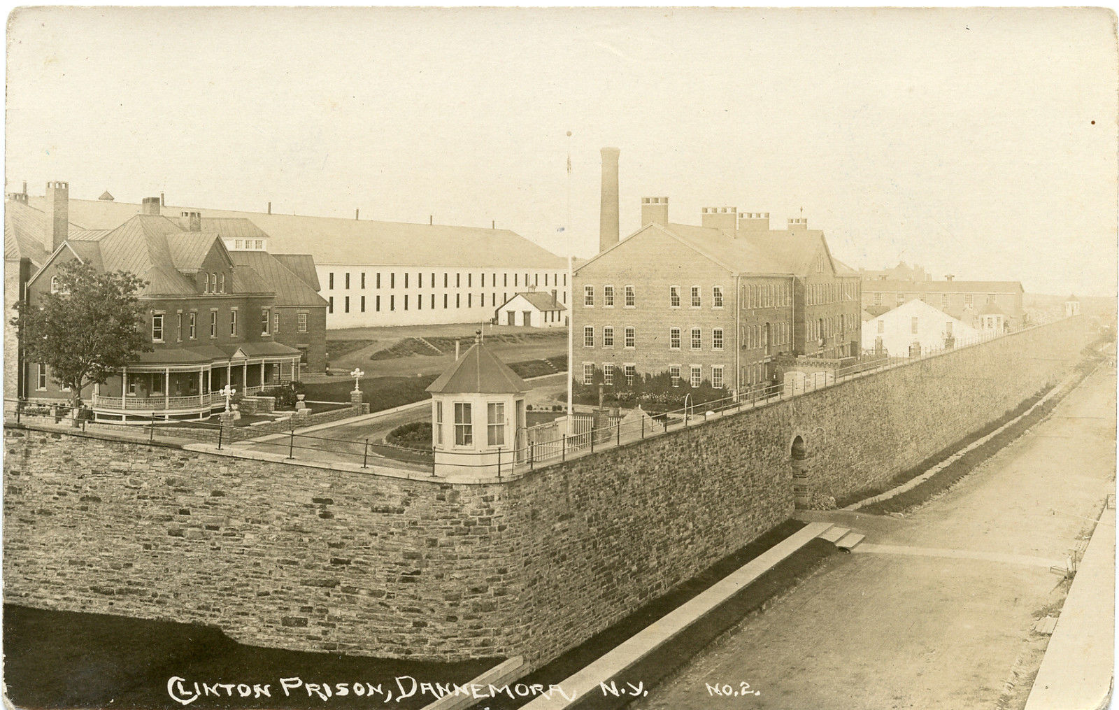 Clinton Prison Vintage Postcard