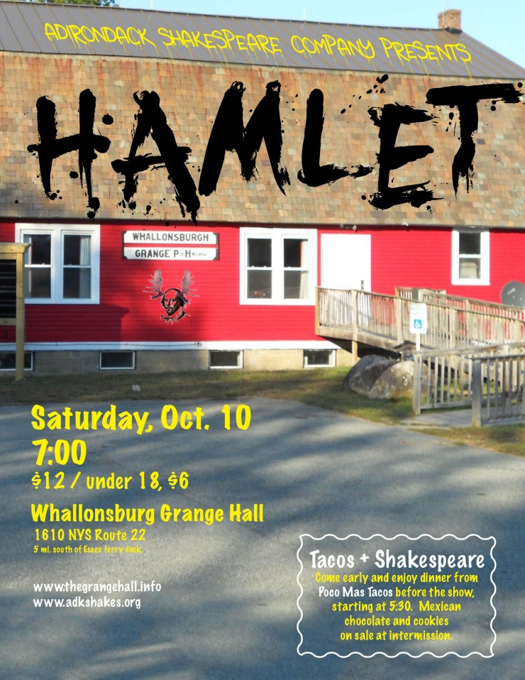 ADK SHAKES Hamlet at Grange Flyer