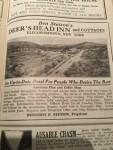 Vintage advertisement for the Deer's Head Inn in Elizabethtown, New York (Courtesy: Eve Ticknor)