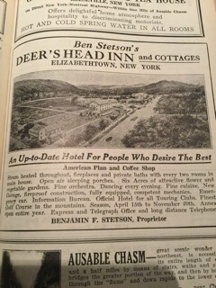 Vintage advertisement for the Deer's Head Inn (Courtesy: Eve Ticknor)
