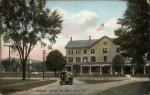 Vintage postcard of the Deer's Head Inn in Elizabethtown, New York