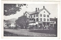 Vintage postcard of the Deer's Head Inn in Elizabethtown, New York