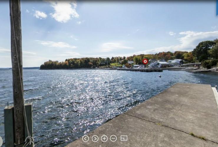 Beggs Park Dock Panorama (AdirondacksUSA.com)