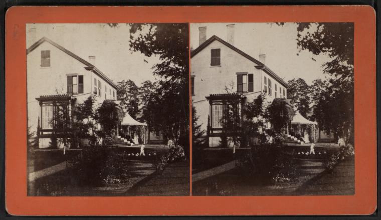 Vintage Stereoview: Sunnyside, Essex, NY