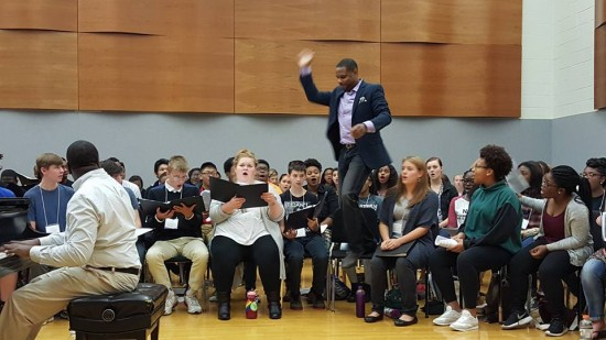 Student participants of the Ithaca College High School Gospel Choir Invitational. (Credit: Willsboro Music Dept.)
