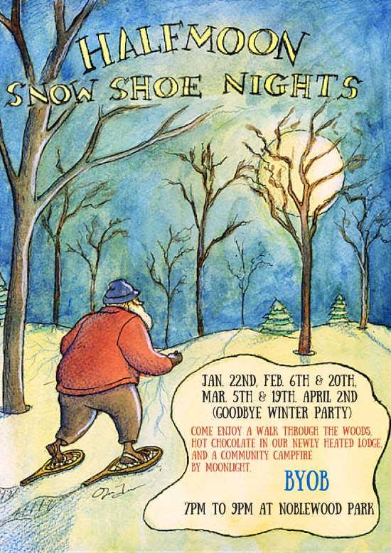Snowshoe and Brew Flyer